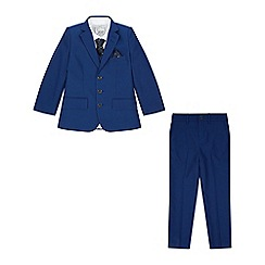 Monsoon - Boys' blue 'oscar' complete jacket set