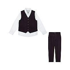 Monsoon - Boys' purple 'Patrick' 3 piece suit set