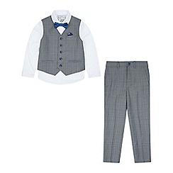 Monsoon - Boys' grey Zachary complete waistcoat set