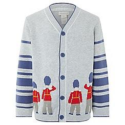 Monsoon - Boys' grey 'Alexander' guard cardigan
