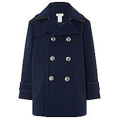 Monsoon - Boys blue 'Nate' pea coat