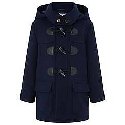 Monsoon - Boys' blue danny duffle coat