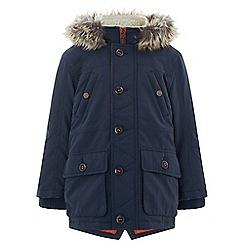 Monsoon - Boys' blue preston navy parka coat