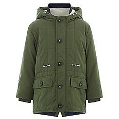 Monsoon - Boys' green blake borg parka coat
