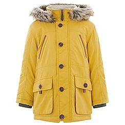 Monsoon - Boys' yellow perry mustard parka coat