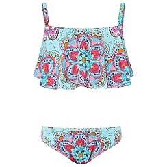 Monsoon - Girls' blue monica print bikini