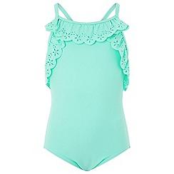 Monsoon - Girls' blue lula swimsuit