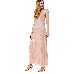 Monsoon - Pink 'Blondie' embellished maxi dress