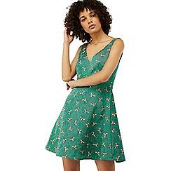Monsoon - Green 'Bea Jacquard' dress