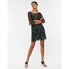 Monsoon - Black 'heera' heart sequin tunic dress