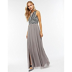 Monsoon - Silver 'Celeste' embellished maxi dress