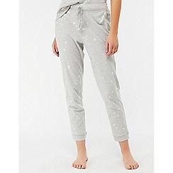 Monsoon - Grey 'Luna' foil print trouser