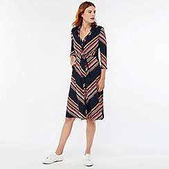 Monsoon - Blue 'Sylvia' stripe shirt dress