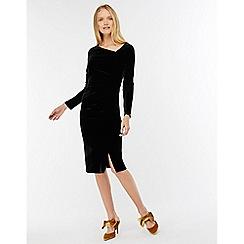 Monsoon - Black 'catriona' velvet shift dress