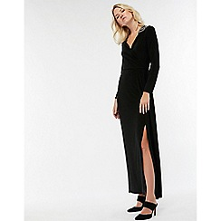 Monsoon - Black 'Taylor' trim shoulder dress