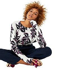 Monsoon - Ivory 'Kora' mono print jumper