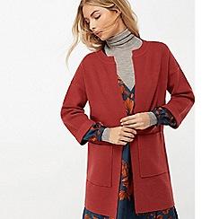 Monsoon - Red 'Shayla' smart coatigan