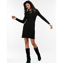 Monsoon - Black 'harlow' heat seal dress