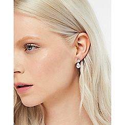 Accessorize - Metallic platinum teardrop short drop