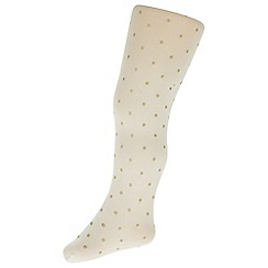 Monsoon - Gold baby glitter spot tights