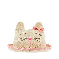 Monsoon - Pink baby 'Catherine' cat bowler hat