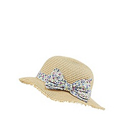 Monsoon - Pink baby pretty bow floppy hat