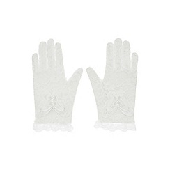 Monsoon - White lacey butterfly gloves