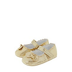 Monsoon - Baby Girls Gold 'Vivienne' bow boots