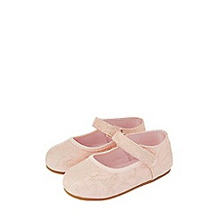 Monsoon - Baby Girls Pink 'Cecilia' jacquard walker boots