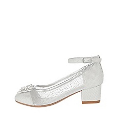 Monsoon - Silver 'Lottie' princess butterfly shoes