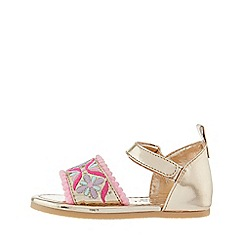 Monsoon - Gold embroidered walker sandals