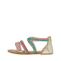 Monsoon - Multicoloured 'Nadia' beaded pom pom sandals