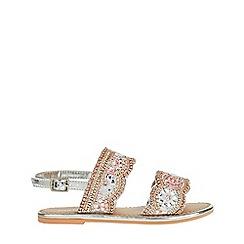 Monsoon - Silver 'penelope' beaded scalloped sandals