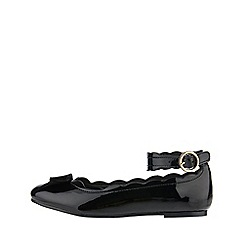 Monsoon - Black 'Harriet' scallop ankle strap ballerina