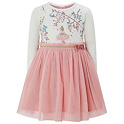 Monsoon - Pink baby 'Bethany' ballerina 2in1 dress