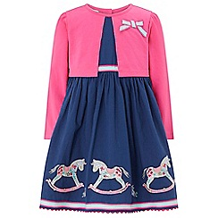 Monsoon - Blue baby 'Reese' rocking horse dress