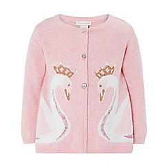 Monsoon - Pink baby 'Savannah' swan cardigan