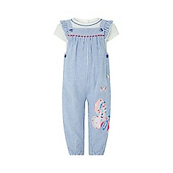 Monsoon - Blue baby 'Delilah' dungaree