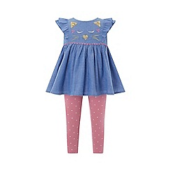 Monsoon - Blue baby 'Alley' chambray set