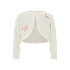 Monsoon - White baby 'Butterfly' bolero