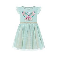 Monsoon - Blue baby 'Flori' butterfly dress