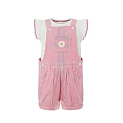 Monsoon - Pink baby 'Hattie' dungaree