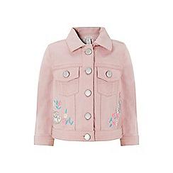 Monsoon - Pink baby bunny denim jacket