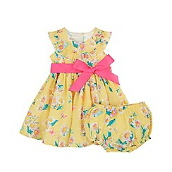 Monsoon - Yellow newborn baby 'Dolly' dress