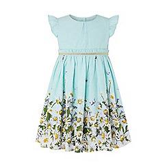 Monsoon - Blue Baby 'Ester' Jacquard Dress