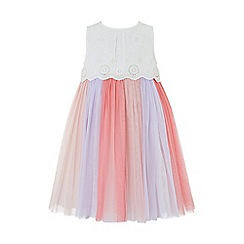 Monsoon - Pink Baby 'Ophelia' Dress