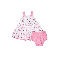 Monsoon - Pink Nb Baby 'Lila' Flamingo Dress