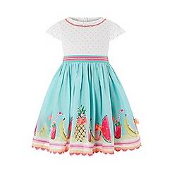 Monsoon - Blue Baby 'Tropical' Mini 2 In1 Dress
