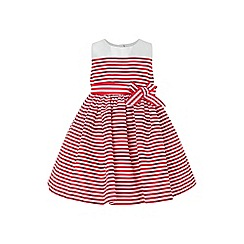 Monsoon - Red baby 'Pinstripe' dove dress