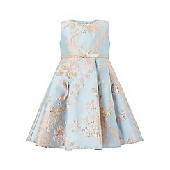 Monsoon - Blue baby 'Cordella' jacquard dress
